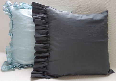 Pillow, Pillows, Bedding, Bedroom, Rest, Frill