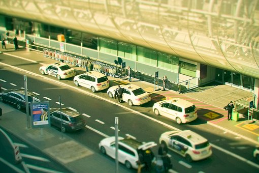 Road, Taxi, Traffic, City, Taxi Stand