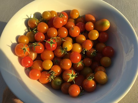 Tomatoes, Cherry Tomatoes, Dish With Tomatoes