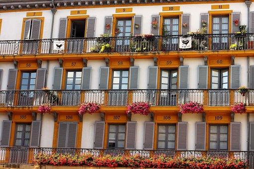 House Facade, Yellow, Window, Building, House, Facade