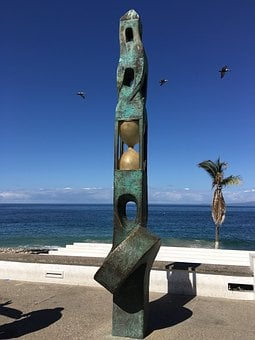 Puerto Vallarta, Art, Beach, Pal, Mexico, Puerto