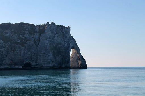 Etretat, Breakthrough Rock, Sea, Normandy, Landscape