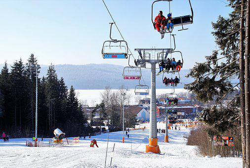 Winter, Snow, Ski Resort, The Ski Slope, Cableway