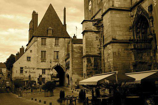 City, Medieval, Architecture, Sepia, Charity On Loire