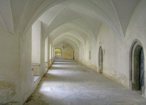 Cloister, Pen, Church, Religion, Gang, Monastery