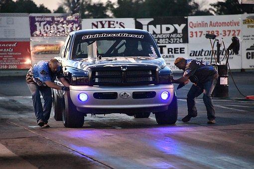 Diesel, Drag, Racing, Truck, Team, Night, Halo, Track