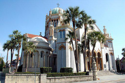 Church, Cathedral, St Augustine, Florida, Steeple