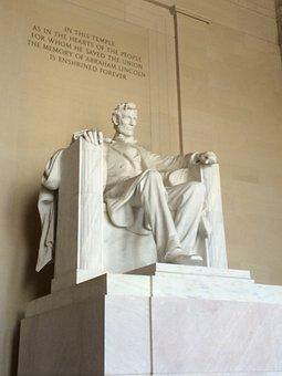 Lincoln, Memorial, Washington, President, Usa, Abraham