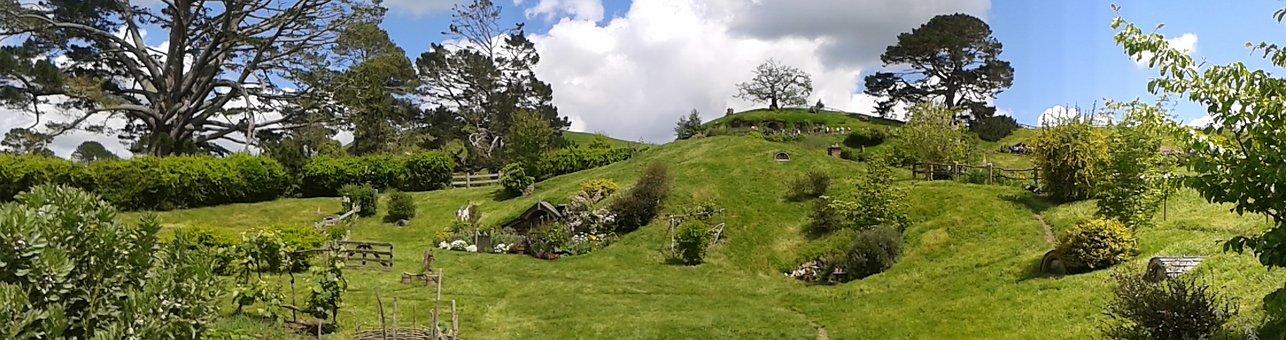 The Hobbiton, Middle Earth, New Zealand, Matamata