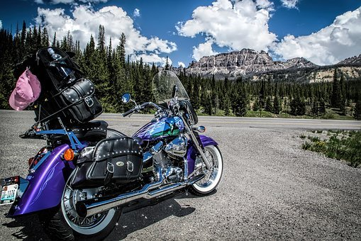 Custom, Paint, Motorcycle, Wyoming, Mountain, Summer