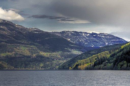 Lake, Alpine, Mountains, Landscape, Nature, Idyllic