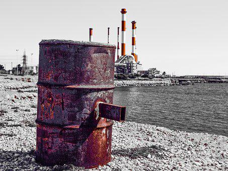 Barrel, Rusty, Pollution, Ecology, Environment