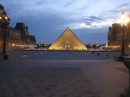 Louvre, Louvre Pyramid, Paris, France, Pyramid