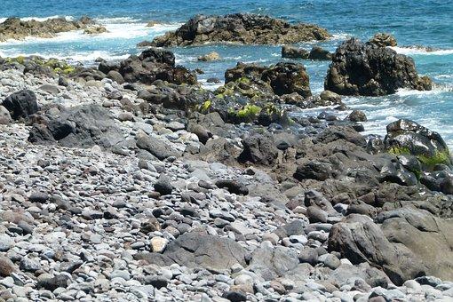 Cliffs, Rock, Sea, Water, Coast, Madeira, Stone
