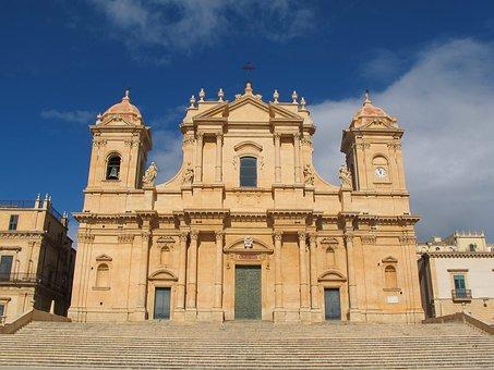 Cattedrale Di Noto, Sicilia, Italy, Cathedral, Church