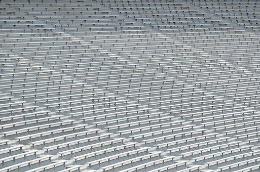 College Stadium Seats, Bench Seats, Football, Stadium