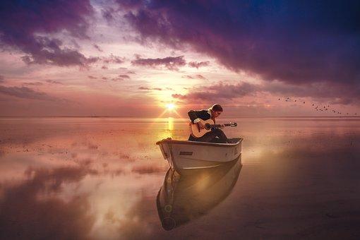 Sun, Sea, Sunset, Afternoon, Man, Coast, Summer, East