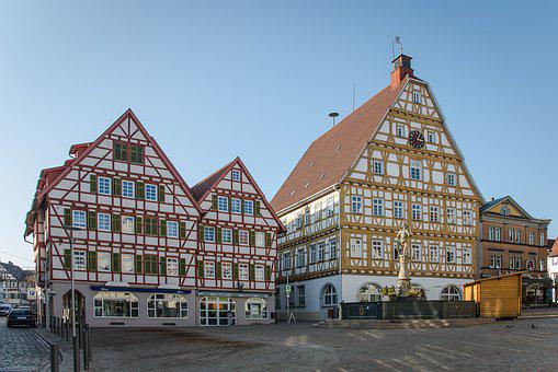 Leonberg, Town Hall, Marketplace, Truss, Middle Ages