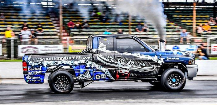 Diesel, Drag, Racing, Truck, Race, Track