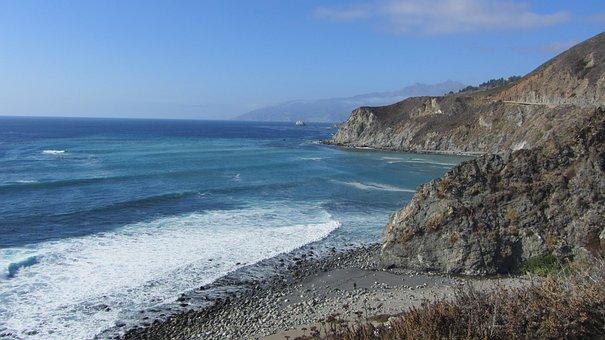 Pacific Coast, West Coast, Usa, Dream Road, Ocean View