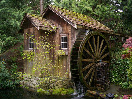 Mill, Waterwheel, Watermill, Old, Antique, Historic