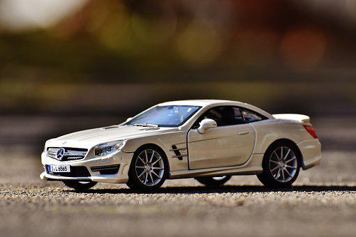 Mercedes Benz, Sl 65 Amg, White, Model Car, Sports Car