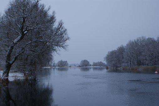 Havel, Winter At The Havel, Frozen Lake