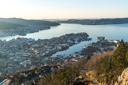 Bergen, Noway, Elevated View, Architecture, Outdoor