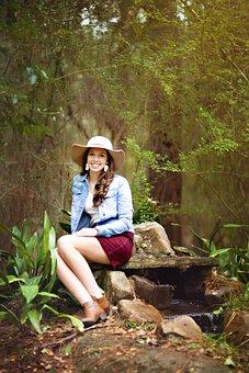 Beauty, Girl, Outdoors, Attractive, Senior Photo