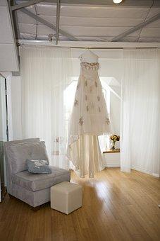 Dress, Wedding, Wedding Dress, Gown, Female, Attractive