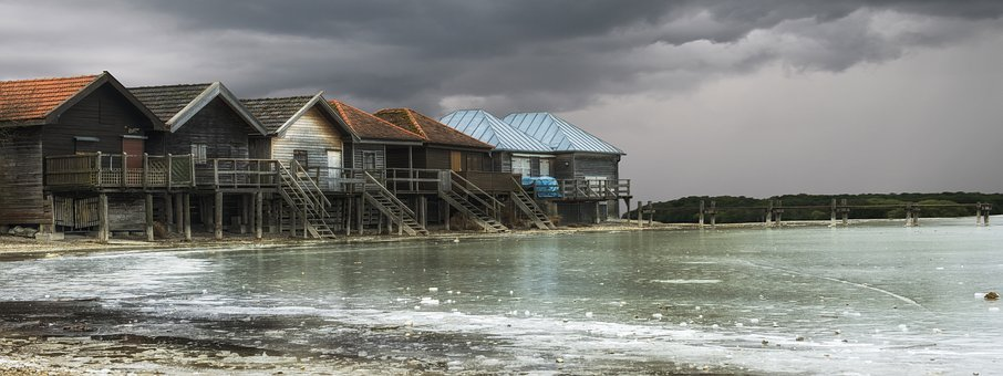 Ammersee, Boat House, Frozen, Water, Lake, Web, Bavaria