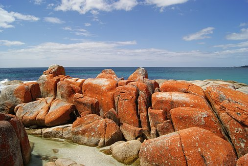 Bay Of Fires, Tasmania, Ocean, Landscape, Travel, Coast