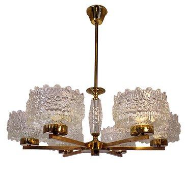 Ceiling Light, Crystalline Lamp, Antique