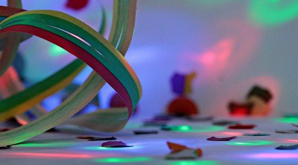Streamer, Confetti, Light, Carnival, Party, Colorful