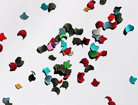 Confetti, Carnival, Party, Colorful, Fun, Deco