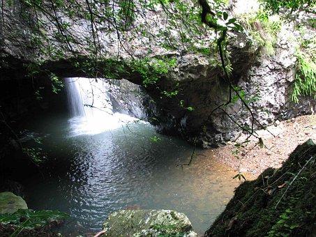 Gold Coast Hinterland, Natural Bridge, Waterfall, Creek