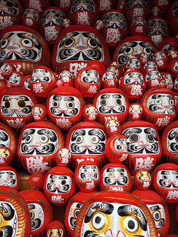 Dharma, Tumbling Doll, Daruma Doll, Japan