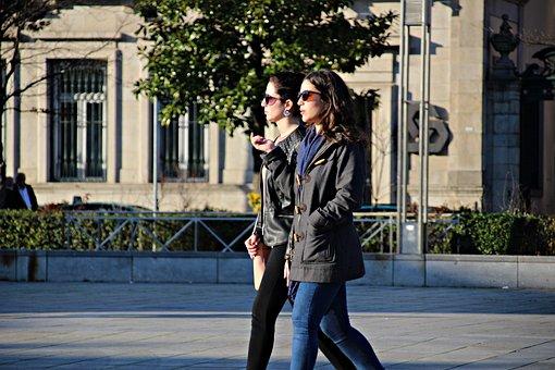 Friends, Women, Charm, Long Hair, Sol, Elegance