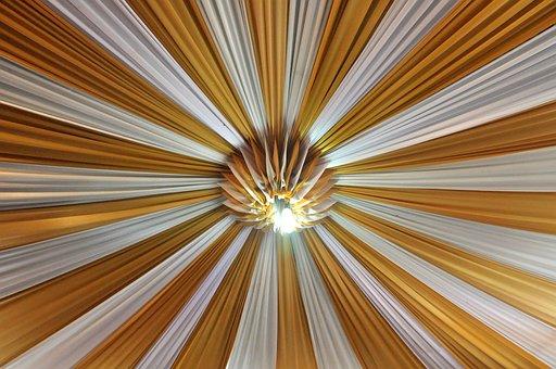 Roof, Fabric, Lamp