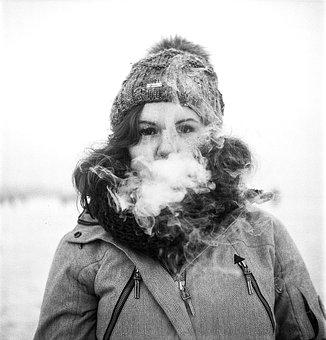 Vape, Girl, Portrait, Smoke, Electronic, Vaping