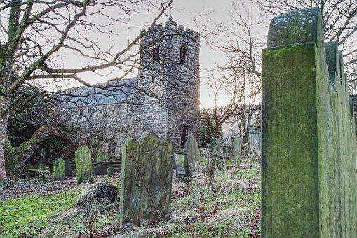 Church, Graveyard, Headstone, Scenery, Otley, Yorkshire
