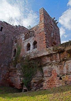 Ruin, Castle, Heritage, Alsace, Wasenbourg, Vosges