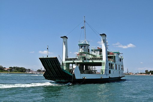 Ferry, Cargo Ship, Carrier, The Barge, Venice, Italy