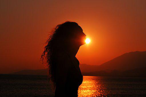 Sunset Silhouette, Kissing The Sun, Curly Girl
