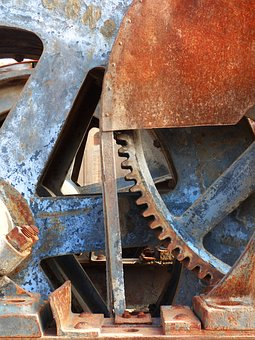 Mechanism, Machine, Gear, Rusty, Old, Iron, Machinery