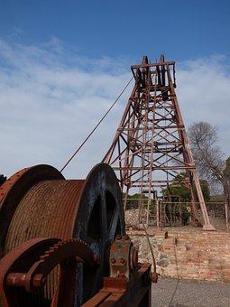 Mine, Mining, Elevator, Well, Cast Iron