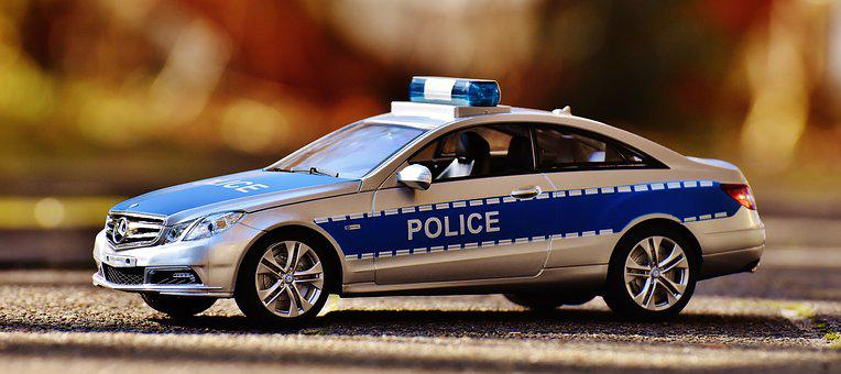Mercedes Benz, Police, Model Car, Police Car