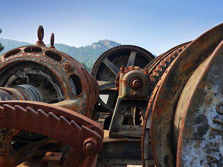 Mechanism, Machine, Machinery, Gear, Rusty, Old