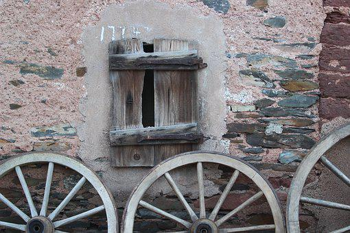 Wagon Wheel, Wheels, Old, Nostalgia, Decoration, Museum