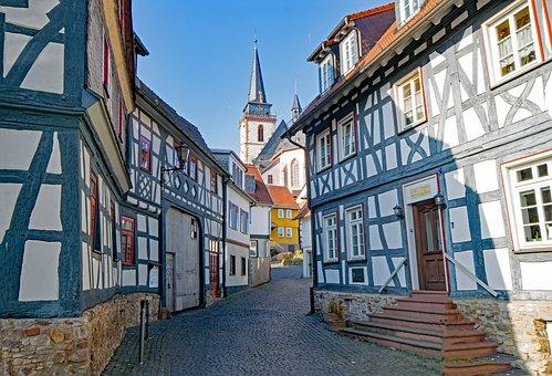 Oberursel, Hesse, Germany, Old Town, Truss